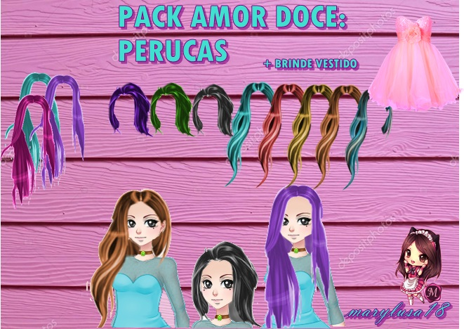 pack amor doce- perucas docetes by Marylusa18