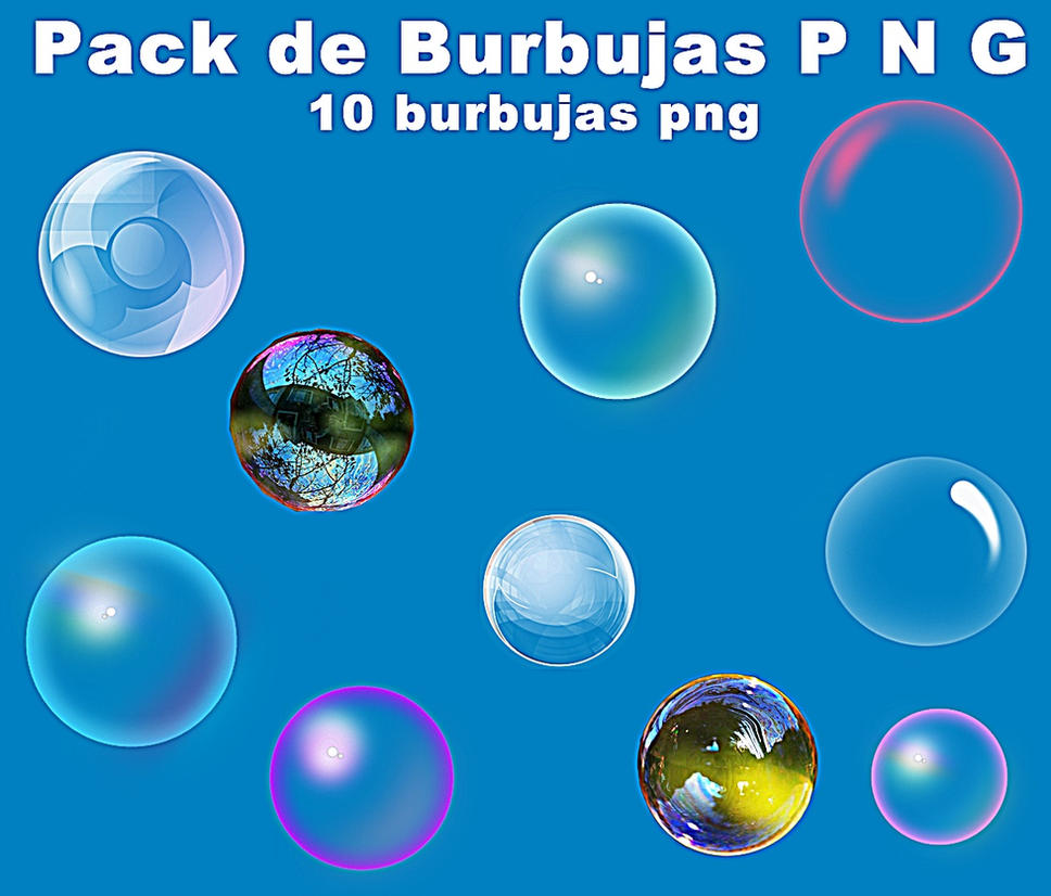 Pack de Burbujas png by Carol05