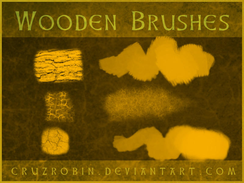 Wooden Brushes by CruzRobin