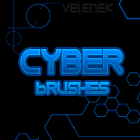 Cyber Brushes STRip by velenek
