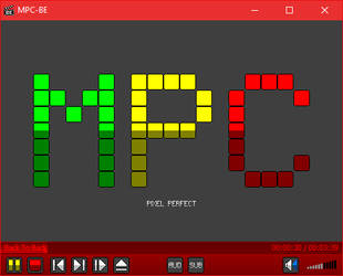 Pixel Perfect logo and toolbar for MPC-BE by The-Choo-Choo-Shoe