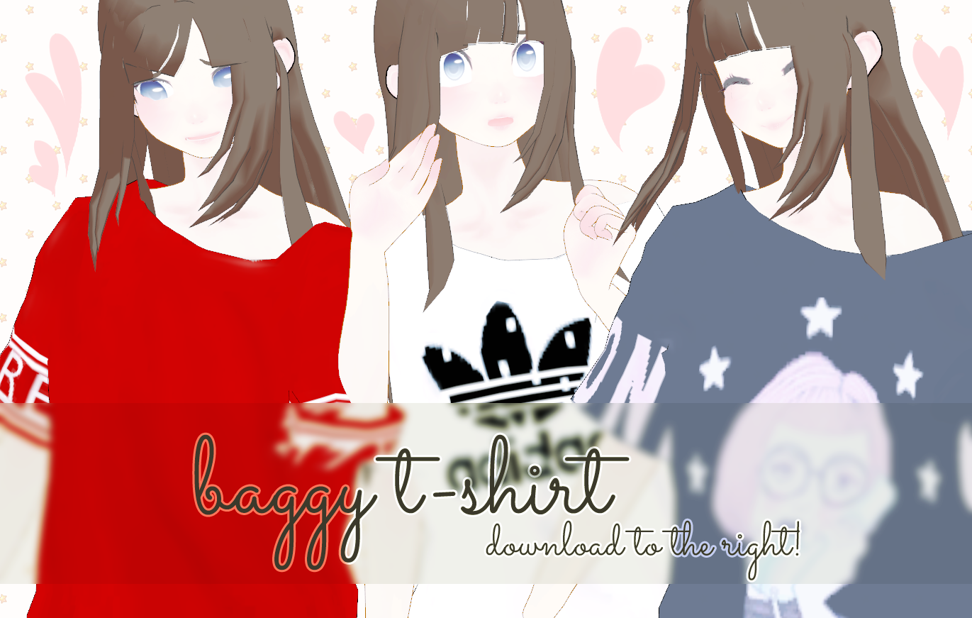 baggy t-shirt // dl!! by madeIine