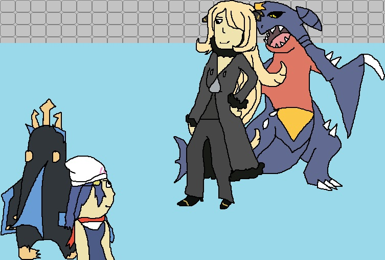 You are challenged by Champion Cynthia