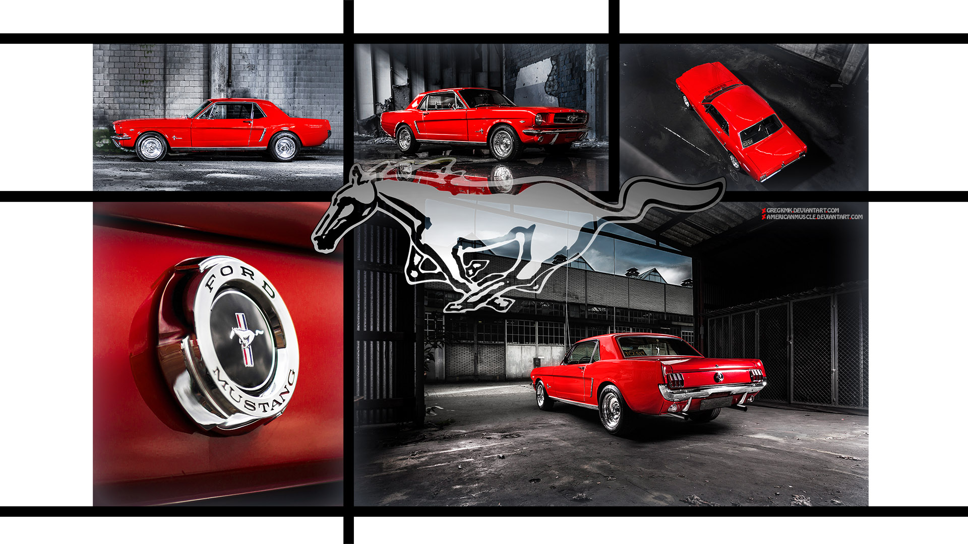 Red Mustang Wallpaper by GregKmk