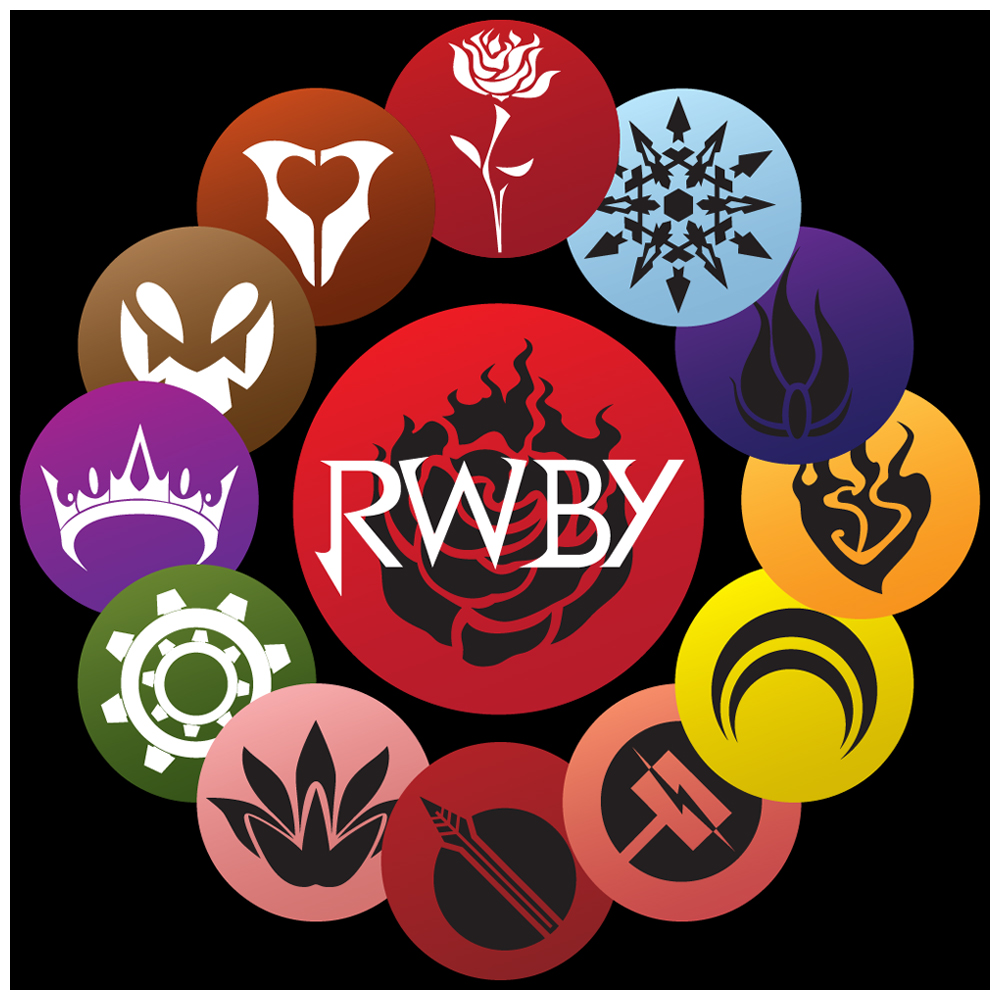 RWBY: Emblems || Insignias by hjpenndragon