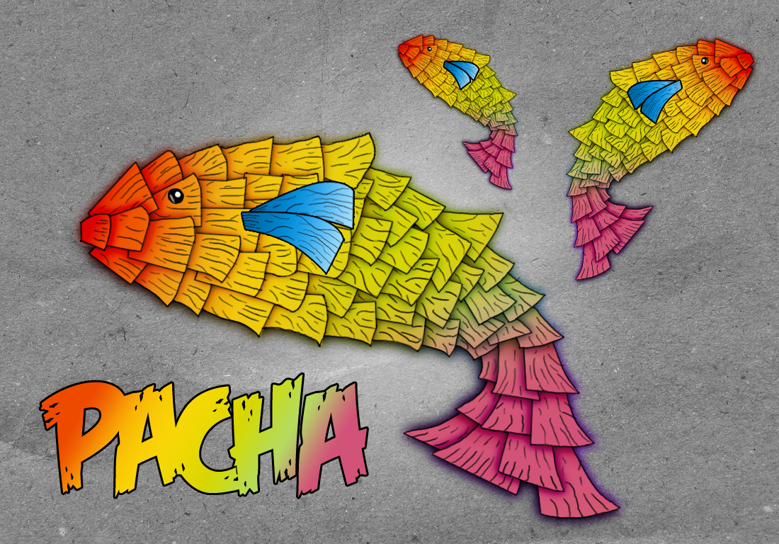 Cartoon-Like Fish Illustration