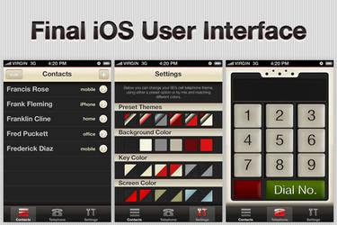 1980s iOS Phone App Design