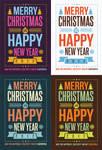 Creative Winter Holidays Postcard