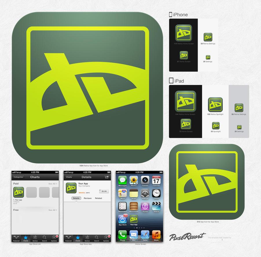 iOS App Icon Template [2.1] by shimapa