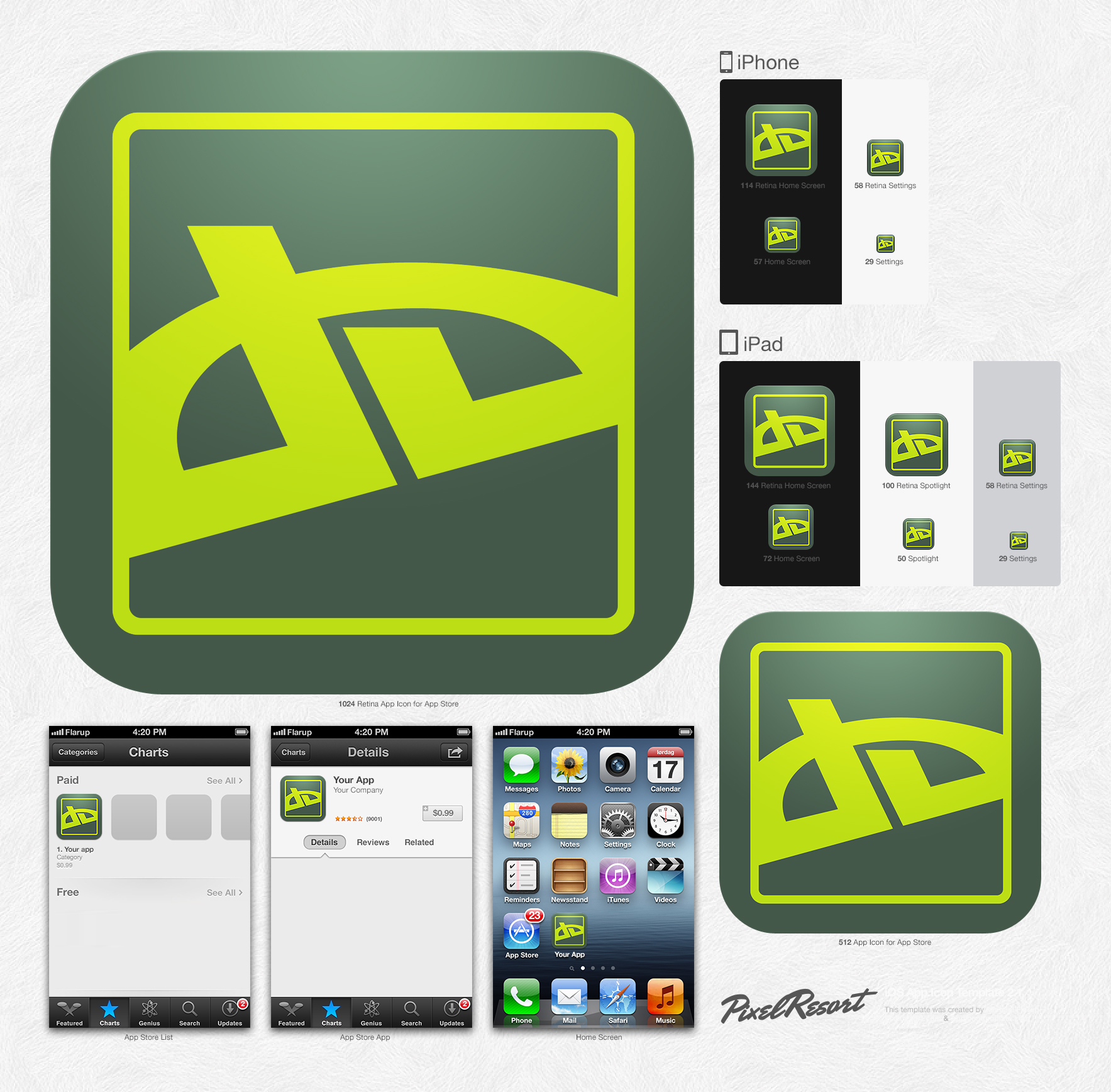 IOS App Icon Template 21 By Shimapa