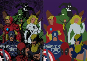My Avengers by Bigg Miggs Flats. by PCRivera