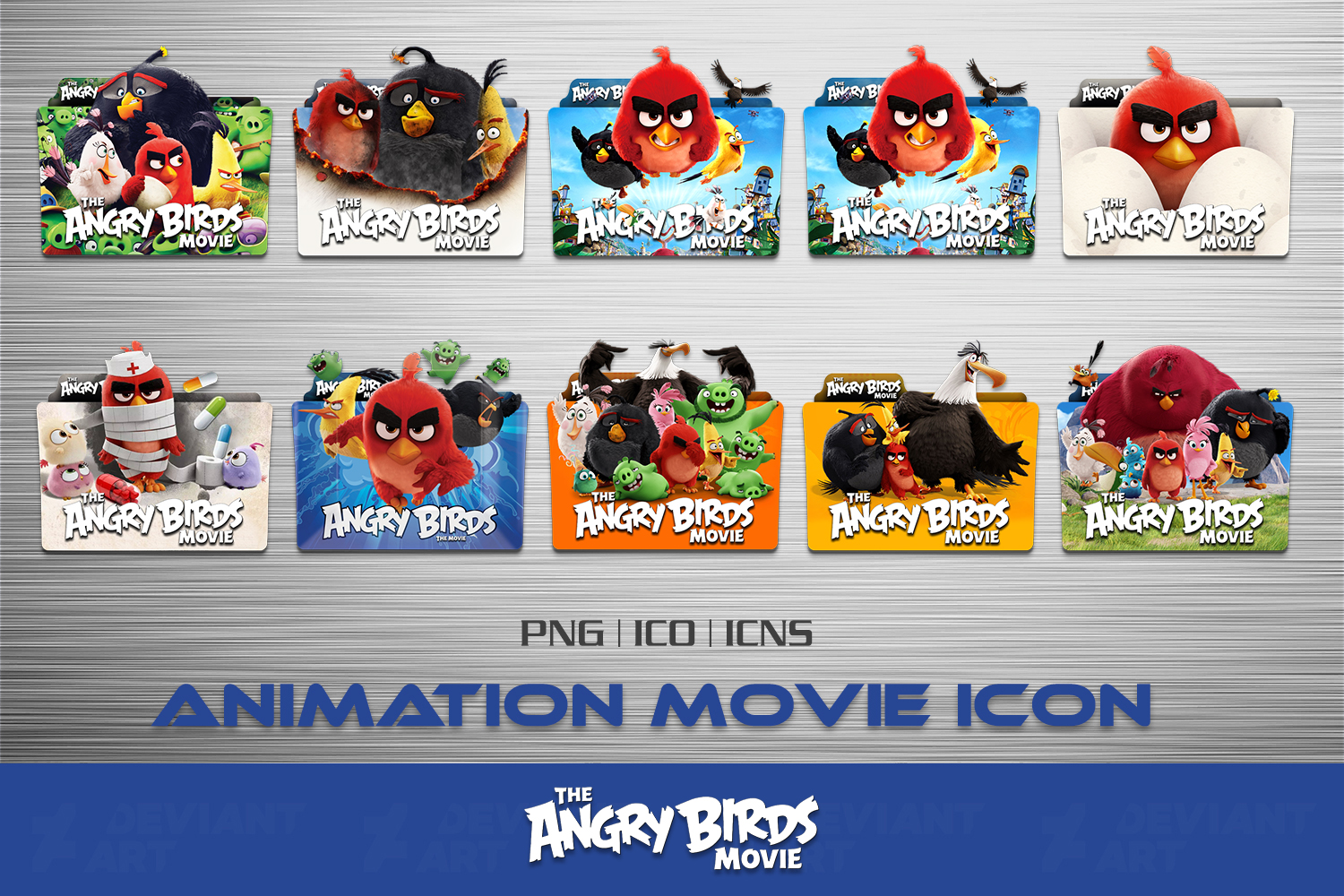 The Angry Birds Movie 2016 Folder Icon Pack By Ahmternbrs60 On Deviantart