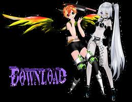 [MMDxC] Tda Cyber-Horror Len [Download] by LadyTK
