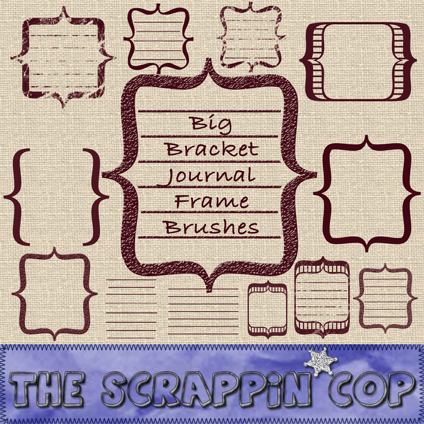 ScrappinCop Journal Brushes