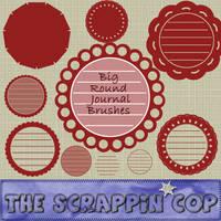 ScrappinCop BIG Round Journals by debh945