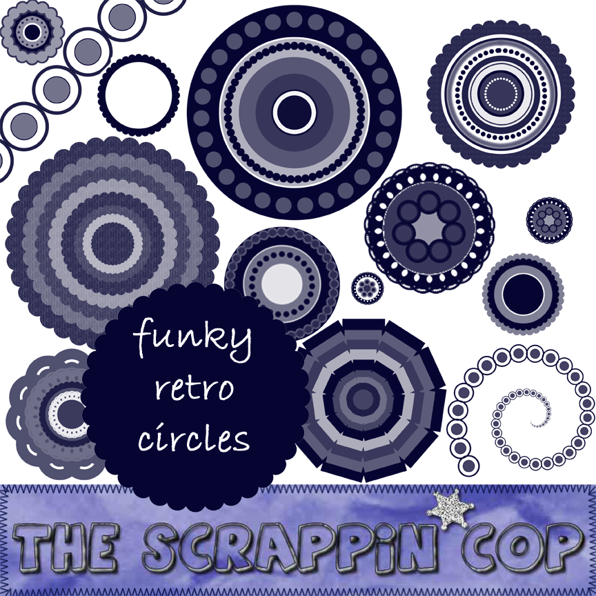 ScrappinCop Funky Retro Circle by debh945