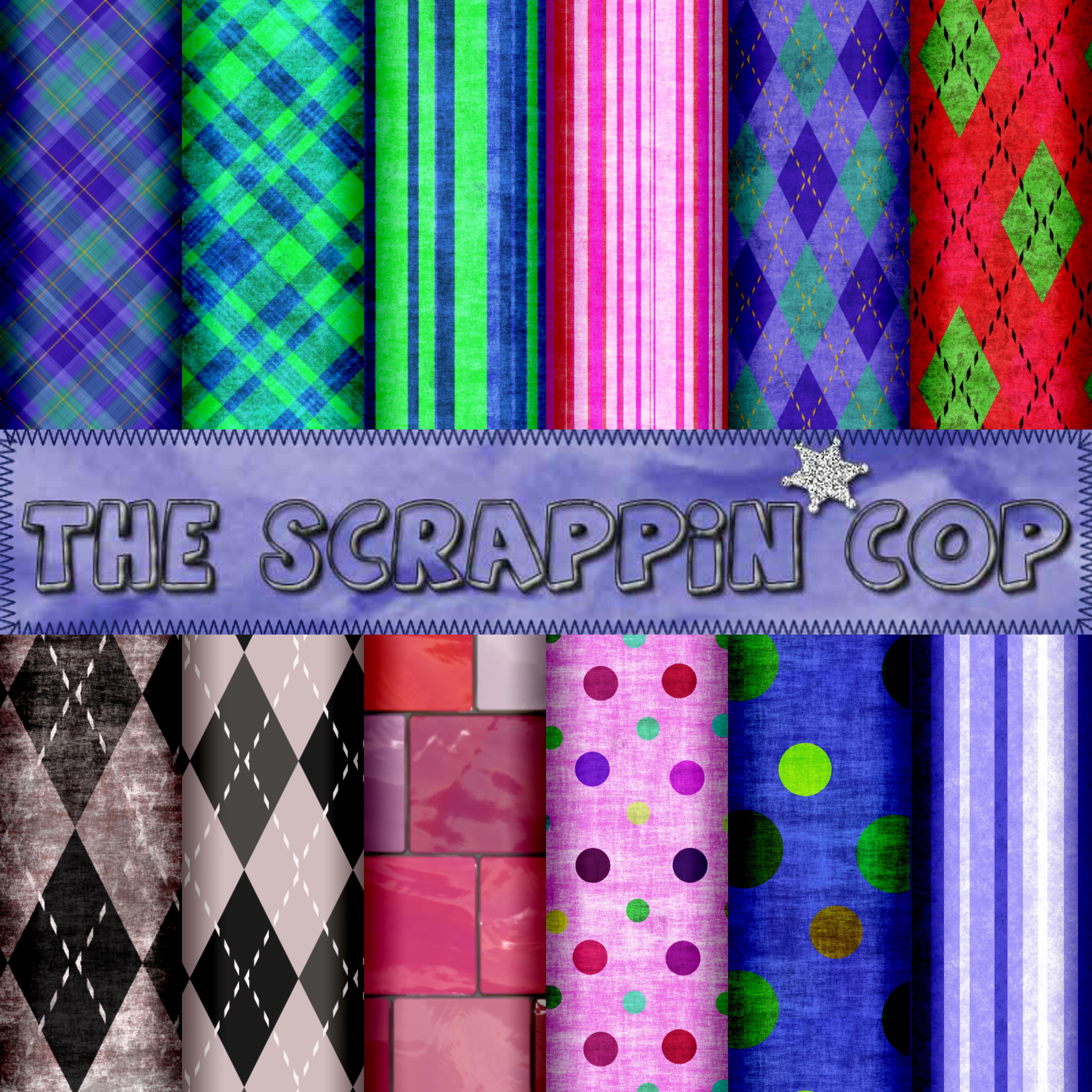 ScrappinCop Pattern Set2 by debh945