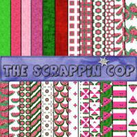 ScrappinCop Watermelons2 by debh945