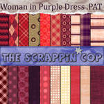 ScrappinCop purple Dress
