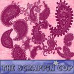 ScrappinCop Beautiful Paisleys