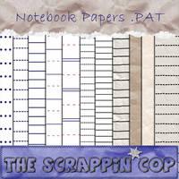 ScrappinCop notebook patterns by debh945