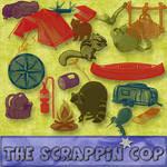 ScrappinCop GoneCampin brushes
