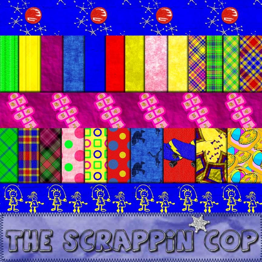 ScrappinCop Summer Fun .PAT by debh945