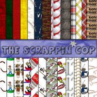 ScrappinCop Gone Fishin Pat. by debh945