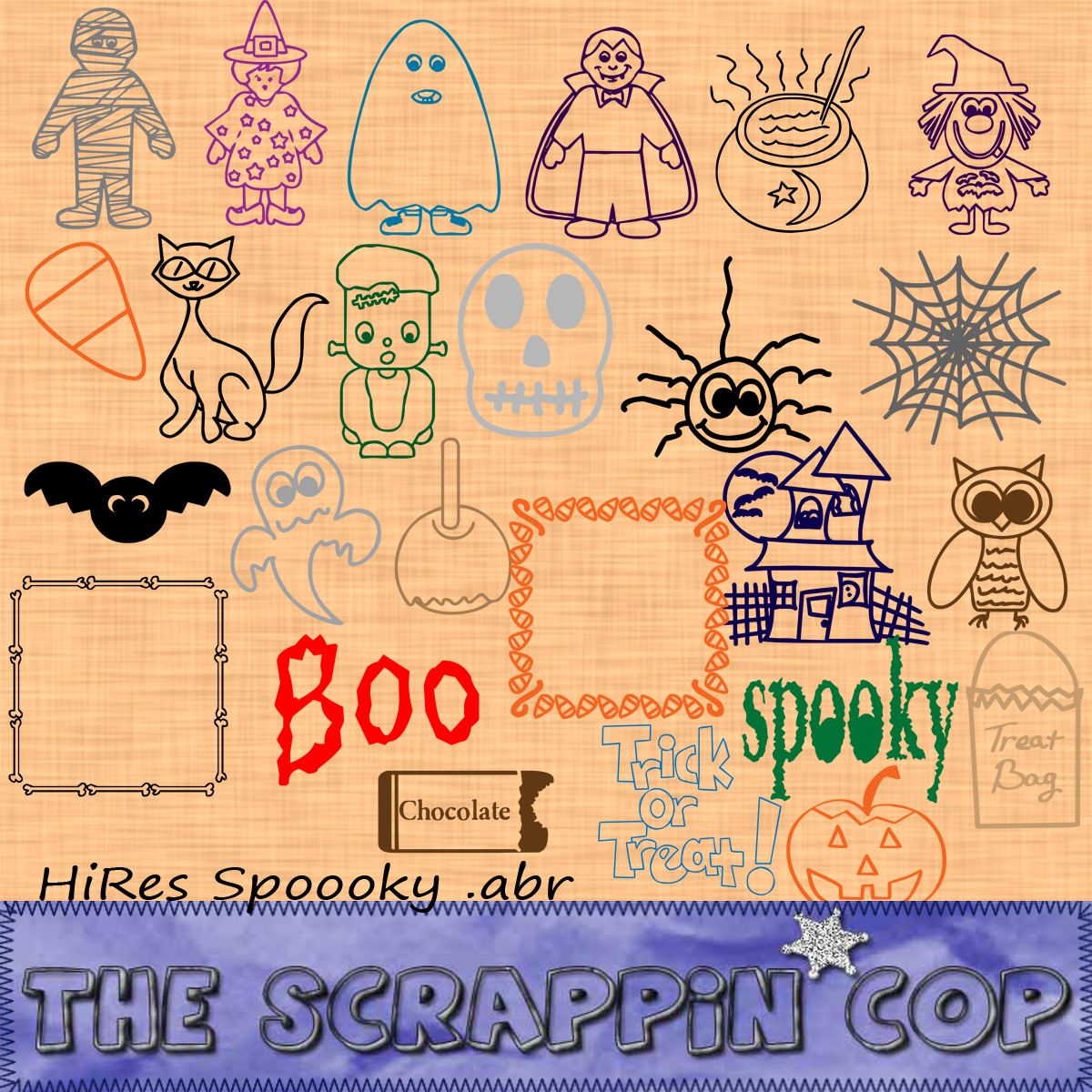 Spoooky Brushes by ScrappinCop