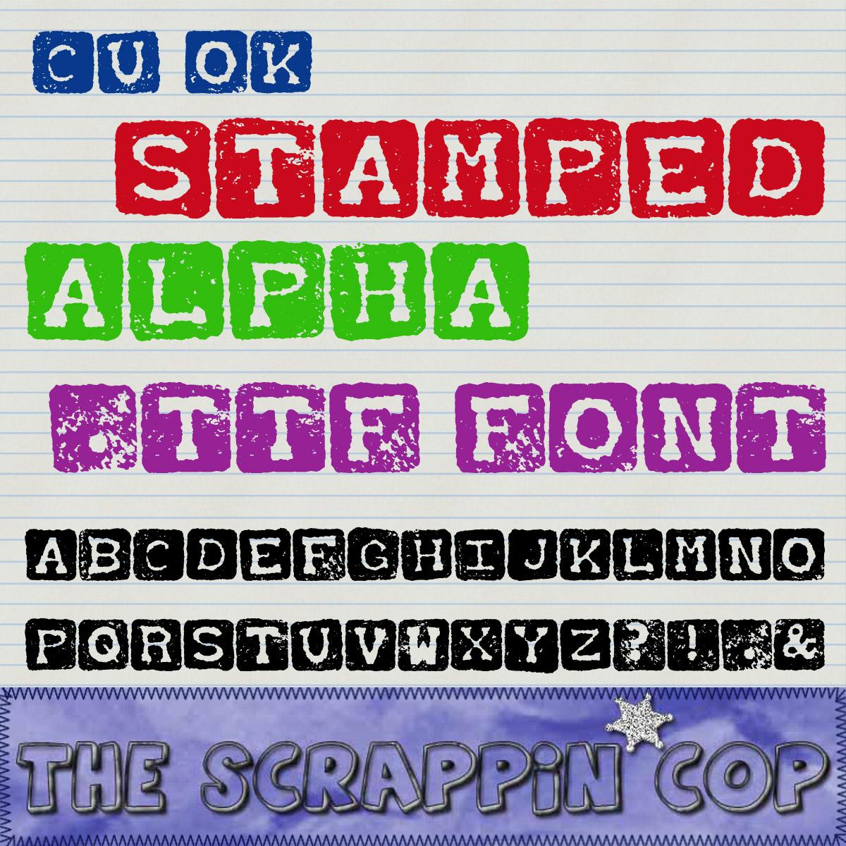 Stamped Alpha Font