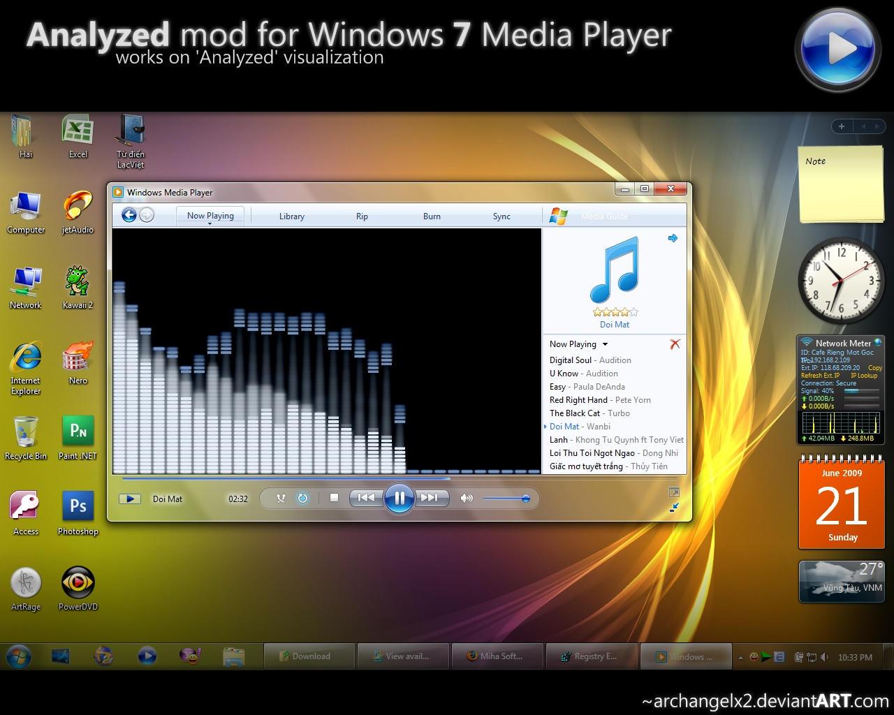 Analyzed mod for Windows 7 WMP by ArchangelX2