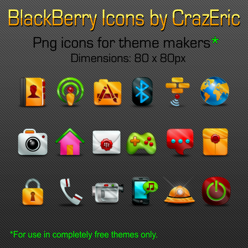 Gleam BlackBerry Icons by CrazEriC