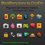Gleam BlackBerry Icons