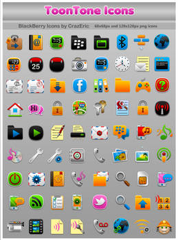 ToonTone BlackBerry Icons by CrazEriC