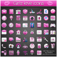 Girlz Love Icons PNG by CrazEriC