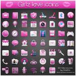 Girlz Love Icons PNG