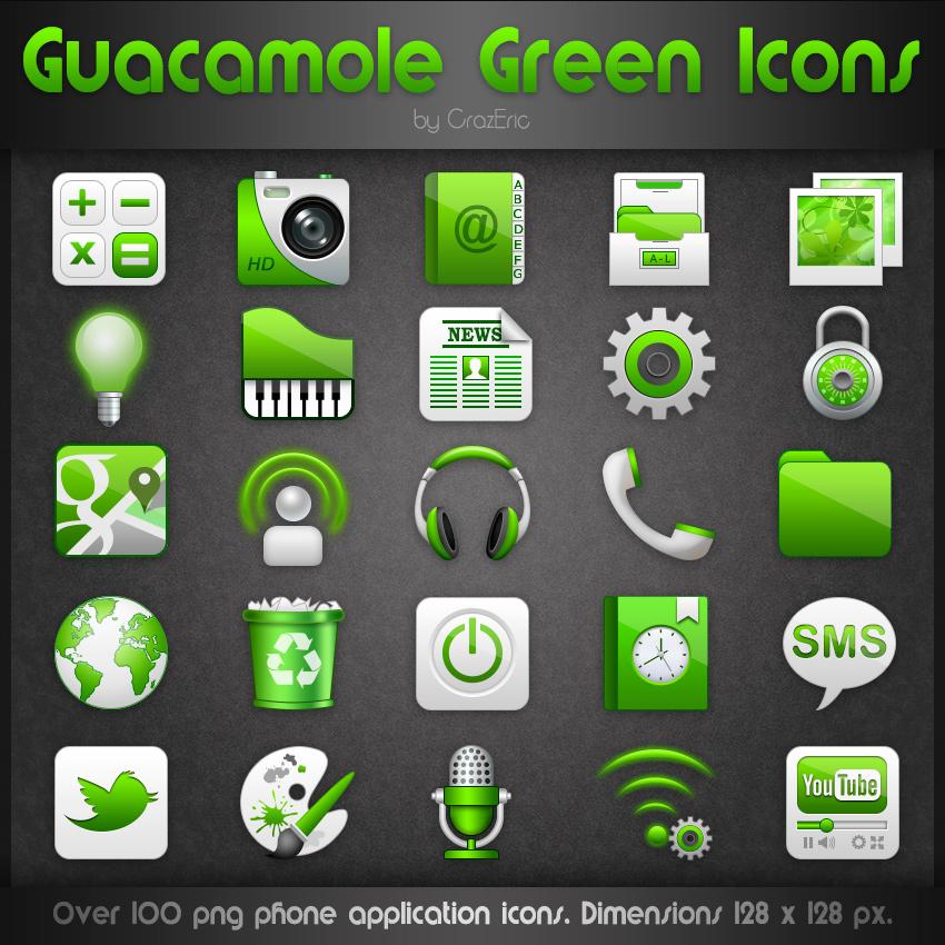 Guacamole Green Icons