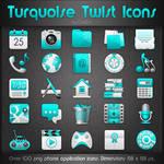 Turquoise Twist Icons