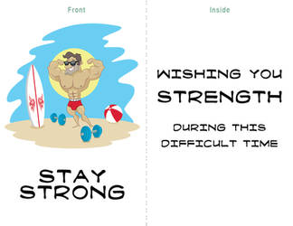 Stay Strong Summer Card Project