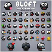 Bloft Big Black Emoticons