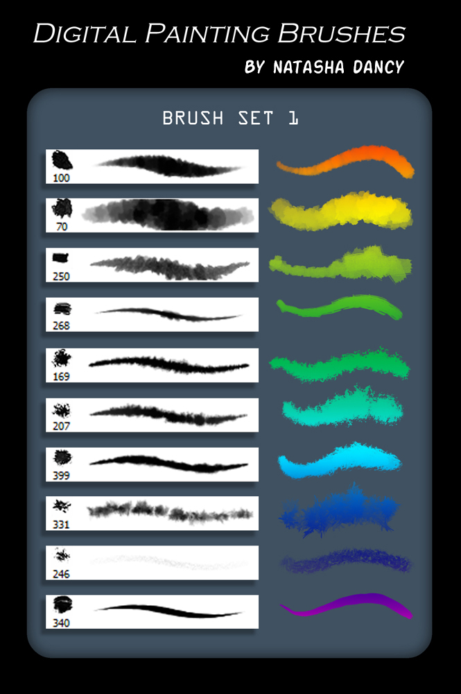 Digital Painting Brush Set 1 by TetheredComic