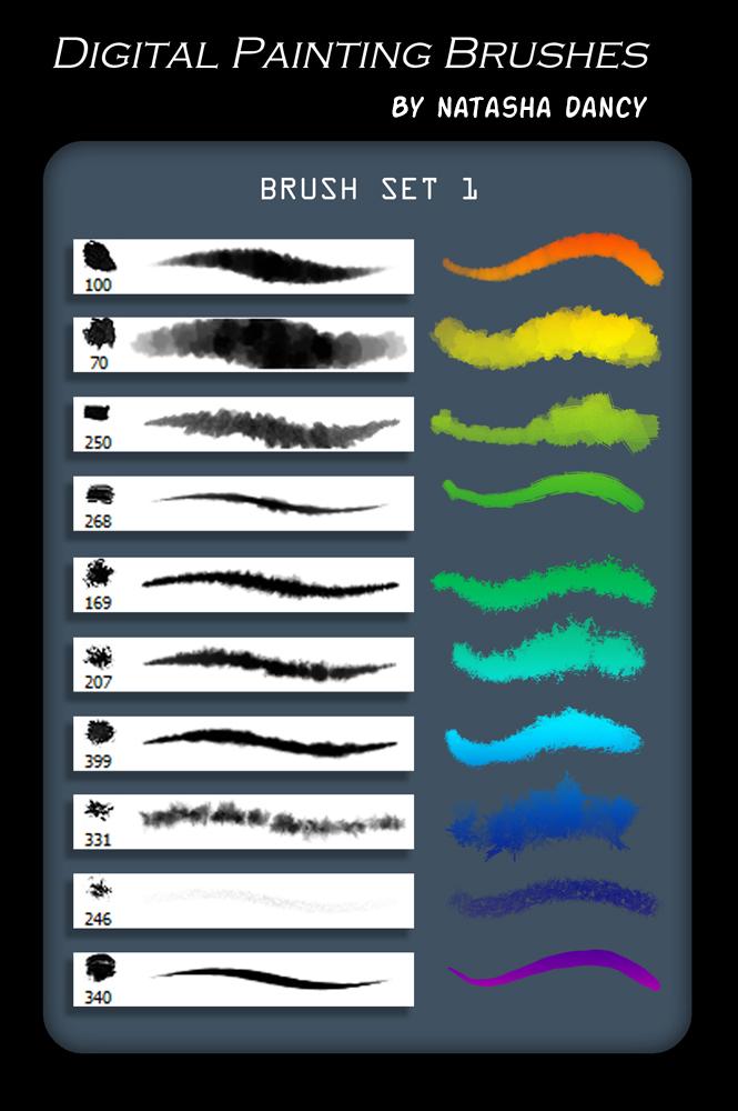 Digital Painting Brush Set 1 by TetheredComic