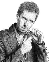 Hugh Laurie Sketch by einmonim