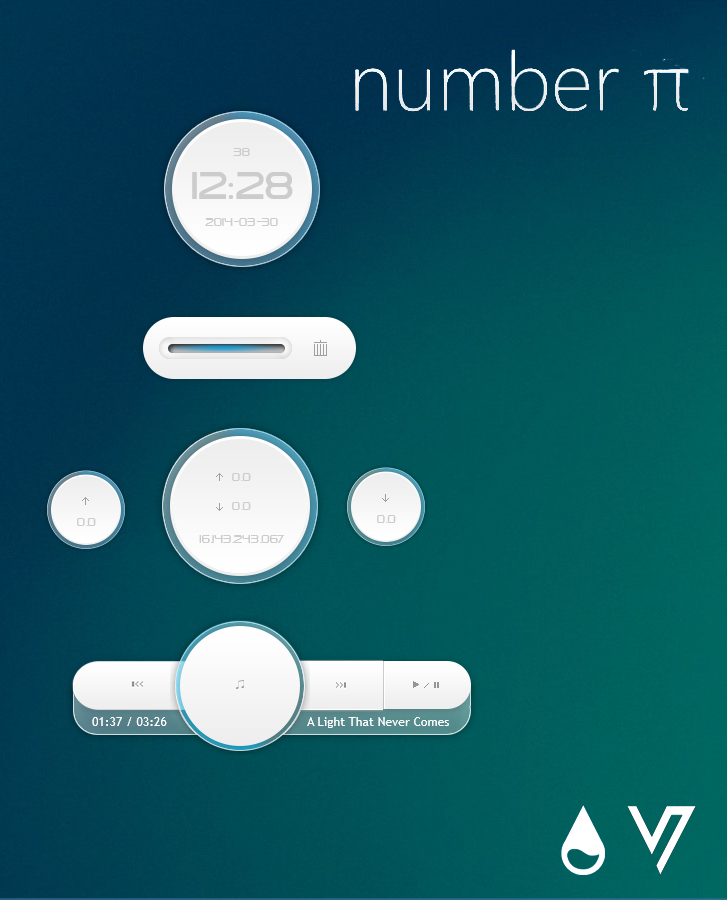 Number PI for Rainmeter [1.0] by VakiNakamura
