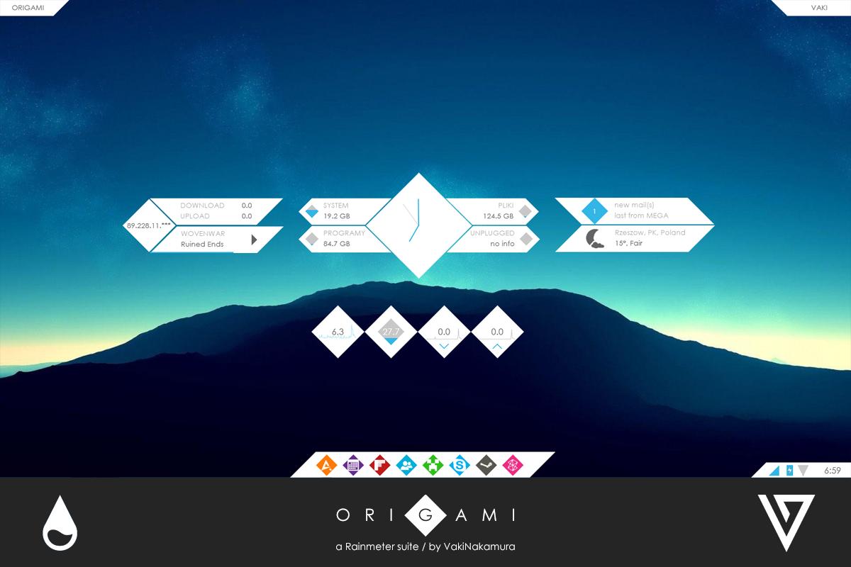 Origami for Rainmeter [1.0]