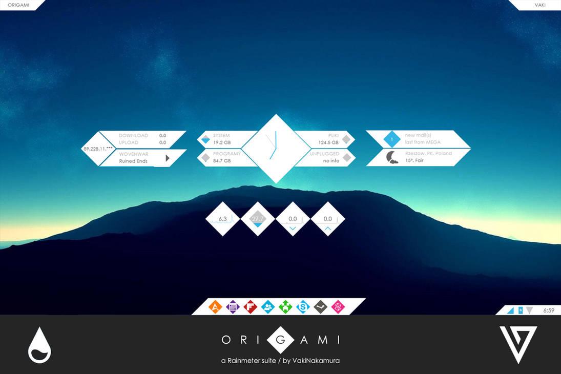 Origami for Rainmeter [1 0] by VakiNakamura on DeviantArt