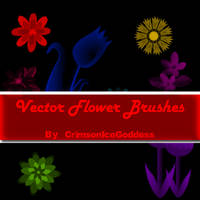 Vector Flower Brushes for Photoshop