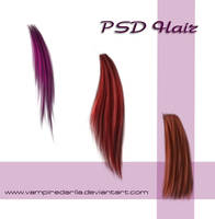 Painted hair PSD by VampireDarlla