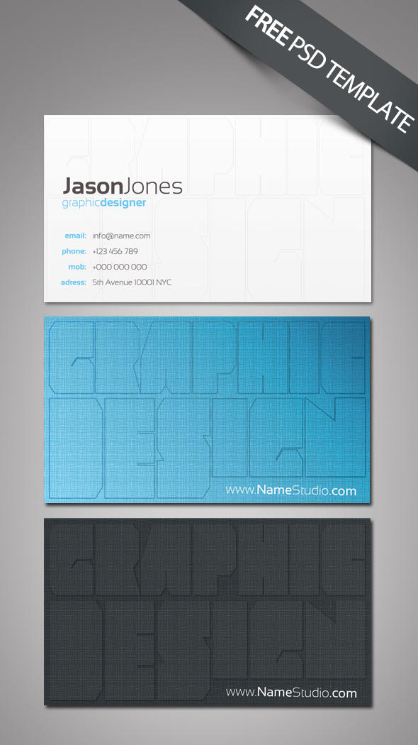 FREE Business Card Template by esteeml on DeviantArt