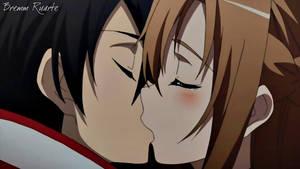 Kirito and Asuna Kiss